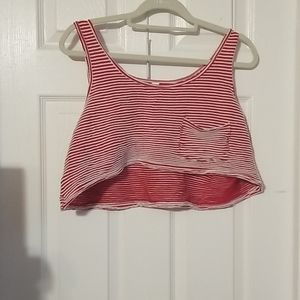 American Apparel  tank top red and white one size